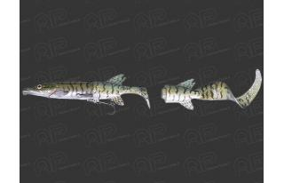 50226-Green Silver Pike 07- Leurre coulant Savage Gear 3D Scan Hybrid Pike